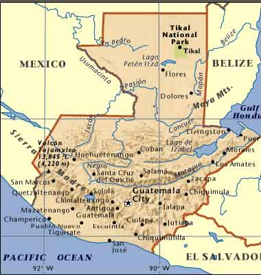 Ecotourism Cultural Opportunities In Guatemala Maps Page